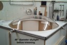 4 ft dia Lexan skylight
